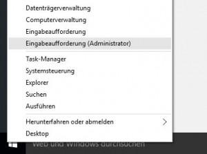 cmd.exe als Administrator
