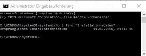Datum der Installation von Windows finden