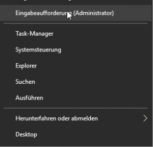 Rechtsklick Startmenü Windows