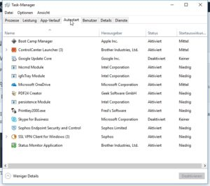Win10-Taskmanager Autostart