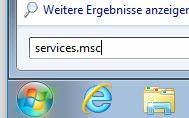 services.msc starten